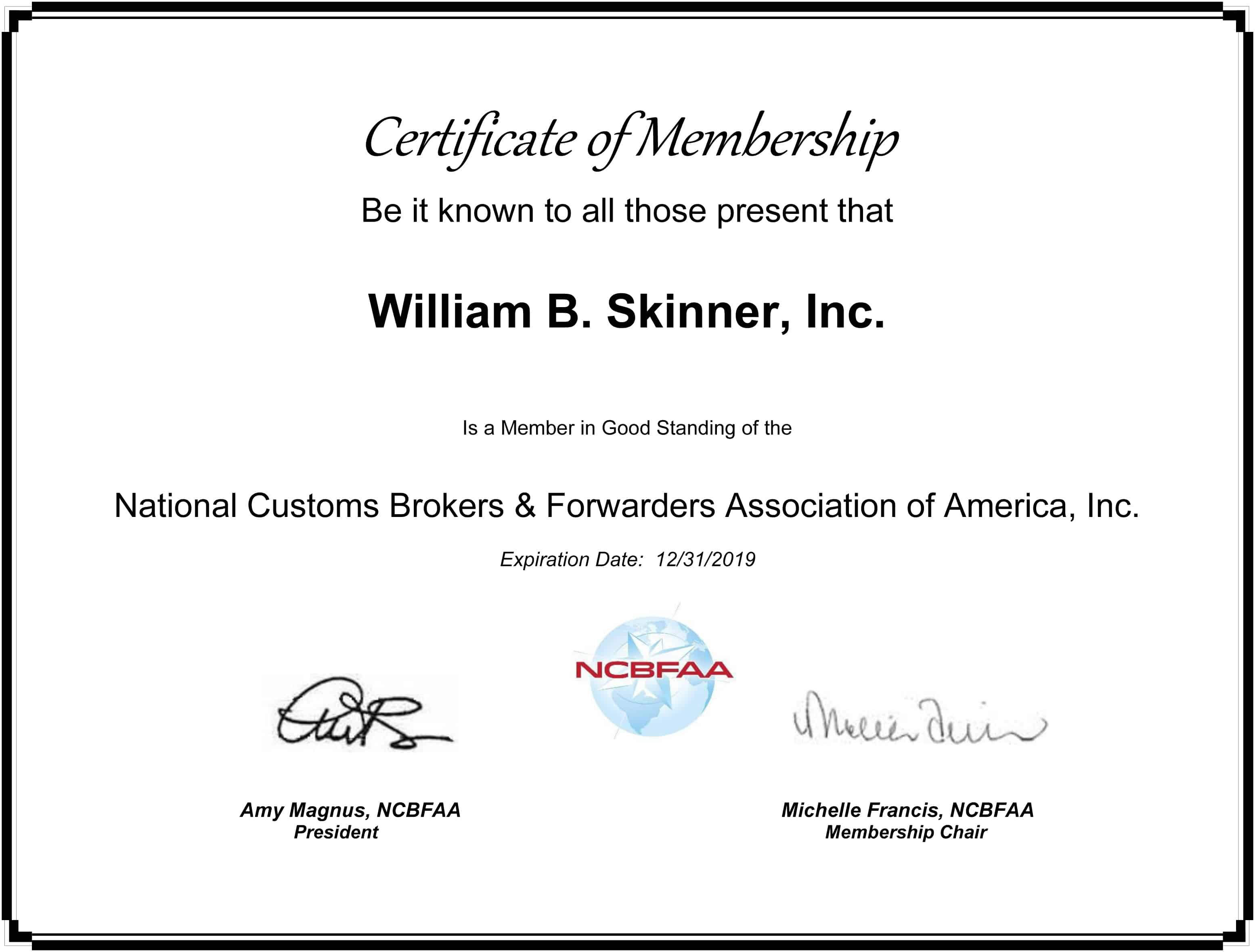 Joining the National Customs Brokers & Forwarders Association of America:  Why It Matters to You