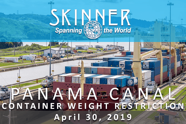 New Panama Canal Draft Restrictions Impact Container Allowable Weights