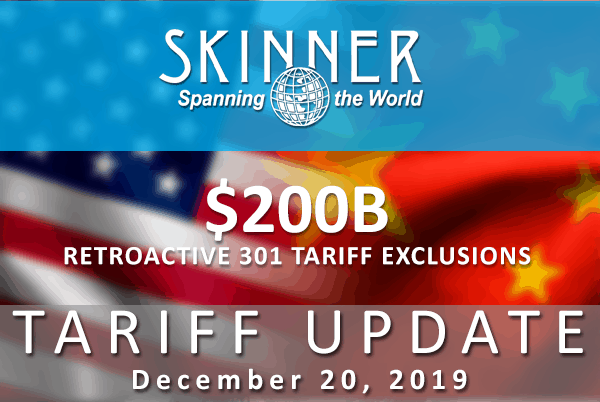 USTR Publishes Additional Exclusions To Section 301 List 3 Products